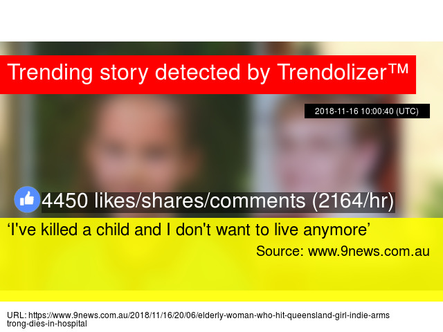 I've killed a child and I don't want to live anymore'