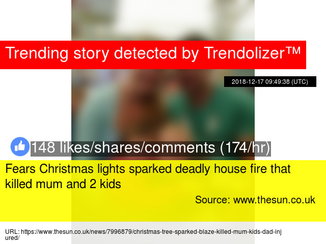 Fears Christmas Lights Sparked Deadly House Fire That Killed Mum And