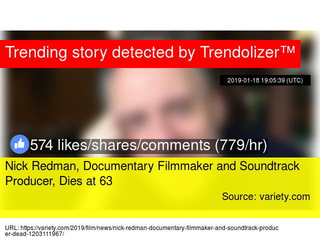 Nick Redman, Documentary Filmmaker and Soundtrack Producer, Dies at 63