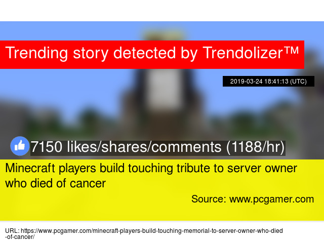 Minecraft players build touching tribute to server owner who