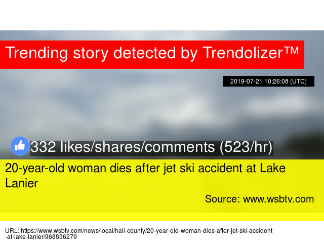 20-year-old woman dies after jet ski accident at Lake Lanier