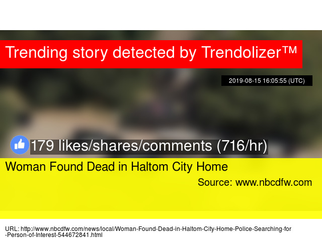 Woman Found Dead in Haltom City Home