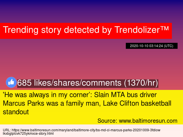 039 He Was Always In My Corner Slain Mta Bus Driver Marcus Parks Was A Family Man Lake Clifton Basketball Standout In baltimore, police announced friday morning. 039 he was always in my corner slain mta bus driver marcus parks was a family man lake clifton basketball standout